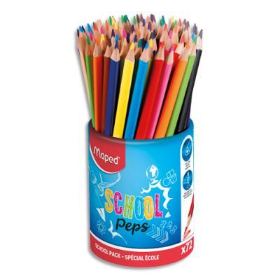 Pot de 72 crayons de couleurs ColorPeps Maped - coloris assortis