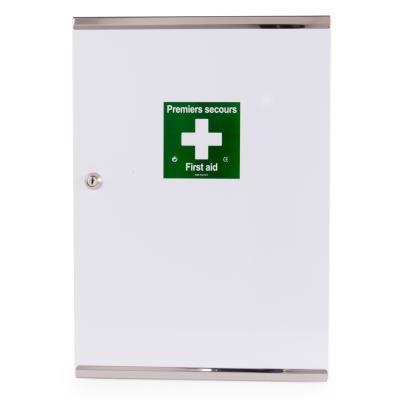 Armoire à pharmacie vide -1 porte double en métal - laquée blanche (photo)