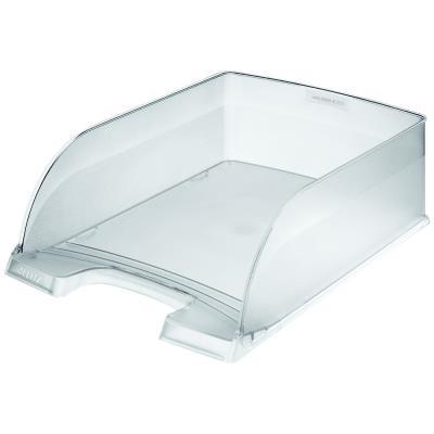Corbeille à courrier Esselte - transparente -  grande capacité - 25.5 x 10 x 36 cm