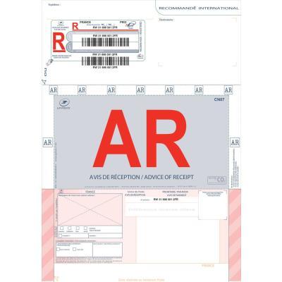 Boite de 250 imprimés recommandés avec AR international A4 IB1 3263 édition imprimantes