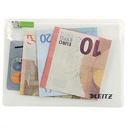 Pochettes enveloppe à zip + soufflet Traveller Leitz - PVC 2/10è - format XS - coloris transparent - sachet de 2