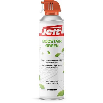 Aérosol dépoussiérant Jelt Boostair Green - gaz HFO sans HFC - 650ml/500g (photo)