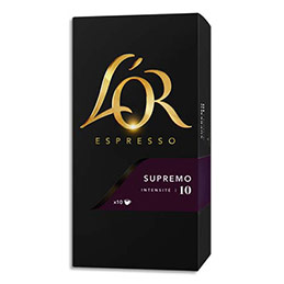 Capsules de café L'Or compatibles Nespresso - Supremo - boîte de 10 (photo)