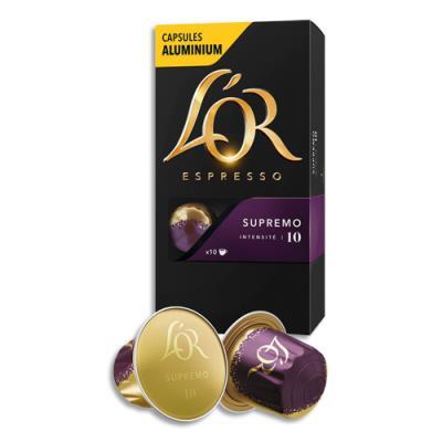 Capsules de café L'Or compatibles Nespresso - Supremo - boîte de 10 (photo)