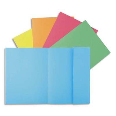Chemises Exacompta 1 rabat Super 180 - carte 160g - coloris assortis - paquet de 100