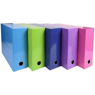 Boîte de transfert Exacompta Iderama - carte lustrée pelliculée - dos 9,5 cm - 34 x 26 cm - coloris assortis