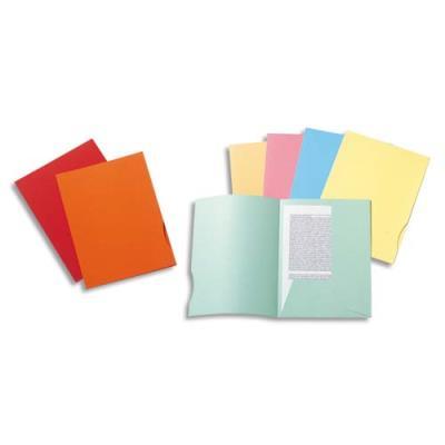 Chemise 2 rabats Exacompta Super 250 - carte 210 g - 24 x 32 cm - bleu clair - paquet de 50 (photo)