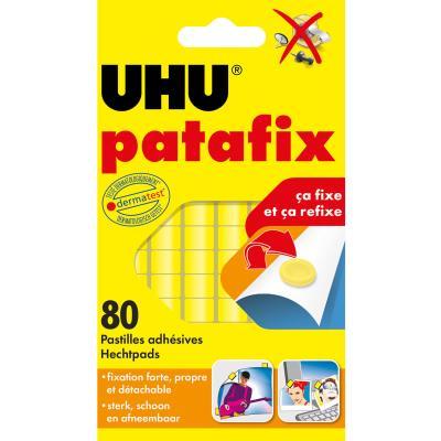 Pastilles adhésives prédécoupées réutilisables Patafix uhu - sachet de 80