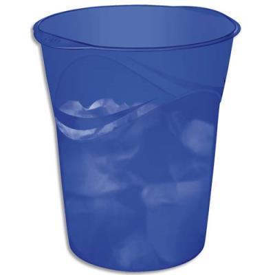 Corbeille à papier Cep Pro Happy - 14 litres - bleu électrique (photo)