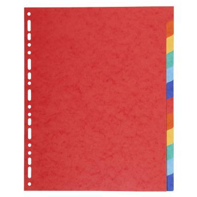 Intercalaires touches neutres Exacompta - carte 225 g - A4+ - 12 positions - coloris assortis