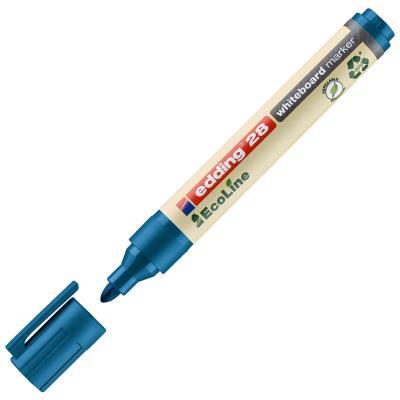Marqueur pour tableau blanc 28 EcoLine à pointe ogive - largeur de trait 1,5 - 3 mm - bleu