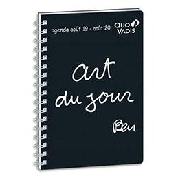Agenda 2019 de poche Quo Vadis Ben Universitaire S - aout à aout - spiralé - format 10 x 15 cm (photo)