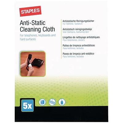 Chiffon de nettoyage anti-statique pour téléphones - claviers et surfaces dures - paquet 5 unités (photo)