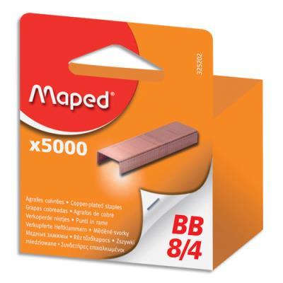 Agrafes Maped 8/4 - blister - boîte de 5000