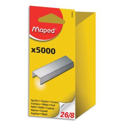 Agrafes Maped 26/8 - blister - boîte de 5000