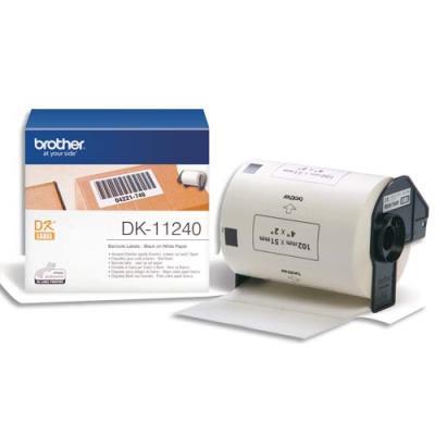 Etiquettes code barre - Brother DK11240 - 102 x 51 mm - 600 étiquettes (photo)