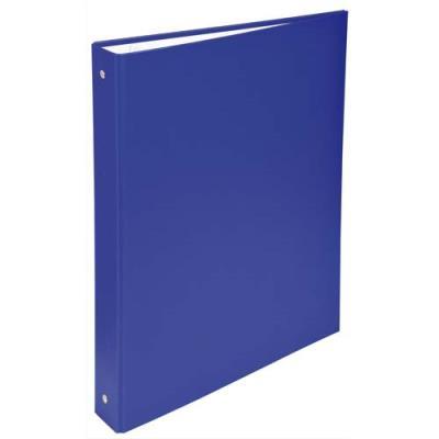 Classeur 4 anneaux Exacompta - couverture rigide papier plastifié - dos 4 cm - A4 - bleu (photo)