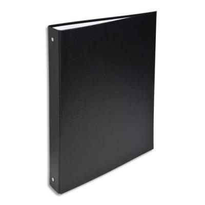 Classeur 4 anneaux Exacompta - couverture rigide papier plastifié - dos 4 cm - A4 - noir