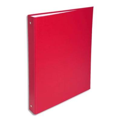 Classeur 4 anneaux Exacompta - couverture rigide papier plastifié - dos 4 cm - A4 - rouge