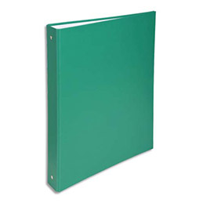 Classeur 4 anneaux Exacompta - couverture rigide papier plastifié - dos 4 cm - A4 - vert
