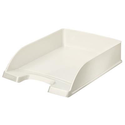 Bac à courrier Leitz WOW en polystyrène - pour format A4 - blanc métallisé