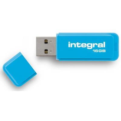 Clé USB 2.0 Integral NEON - 16 Go - bleue