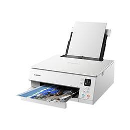 Canon PIXMA TS6351 - Imprimante multifonctions - couleur - jet d'encre - 216 x 297 mm (original) - A4/Legal (support) - jusqu'à 15 ipm (impression) - 200 feuilles - USB 2.0, Bluetooth, Wi-Fi(n) - blanc (photo)