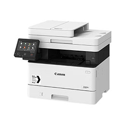 Canon i-SENSYS MF443dw - Imprimante multifonctions - Noir et blanc - laser - A4 (210 x 297 mm), Legal (216 x 356 mm) (original) - A4/Legal (support) - jusqu'à 38 ppm (copie) - jusqu'à 38 ppm (impression) - 350 feuilles - USB 2.0, Gigabit LAN, Wi-Fi(n), hôte USB 2.0 (photo)
