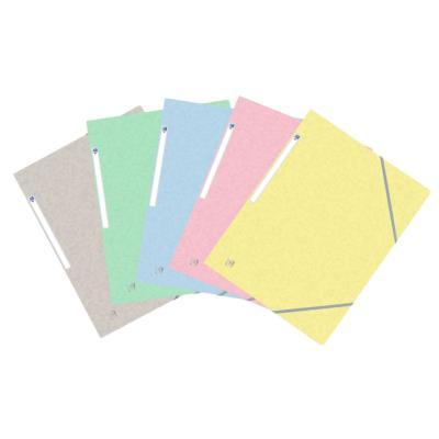 Chemises 3 rabats à élastiques Oxford Top File + A4 - coloris assortis pastel