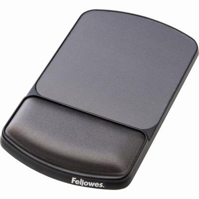 Tapis de souris ergonomique Fellowes - repose poignet intégré - hauteur ajustable (photo)