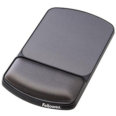 Tapis de souris ergonomique Fellowes - repose poignet intégré - hauteur ajustable