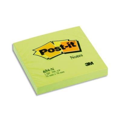 Notes Néons Post-it - 76 x 76 mm - vert