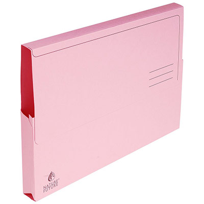Chemise-pochette Exacompta - carte Jura 220g - rose - paquet 10 unités
