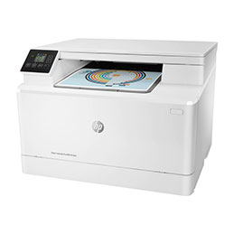 HP Color LaserJet Pro MFP M182n - Imprimante multifonctions - couleur - laser - 216 x 297 mm (original) - A4/Legal (support) - jusqu'à 16 ppm (copie) - jusqu'à 16 ppm (impression) - 150 feuilles - USB 2.0, LAN (photo)