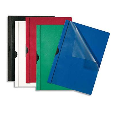 Chemises de présentation à clip 5 Etoiles - capacité 30 feuilles - coloris bleu foncé - paquet de 25 (photo)