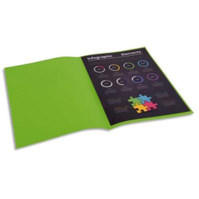 Sous-chemise Exacompta Rock's - vert clair - format 22 x 31 cm - 80 g - paquet de 100