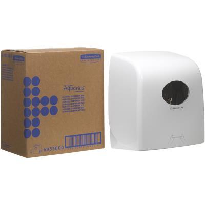 Distributeur manuel d'essuie-mains en rouleau Slimroll blanc ultra-brillant (photo)