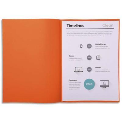 Sous-chemise Exacompta Super 60 - 60 g - orange - 22 x 31 cm - paquet de 250