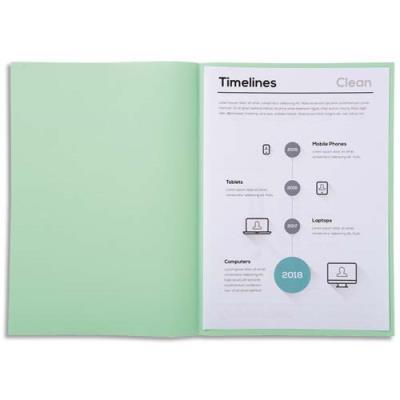 Sous-chemise Exacompta Super 60 - 60 g - vert clair - 22 x 31 cm - paquet de 250