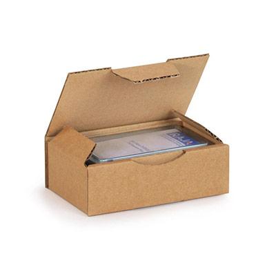 Boîte d'expédition en carton Raja - simple cannelure - L.24 x l.17 x H.5 cm - brun (photo)