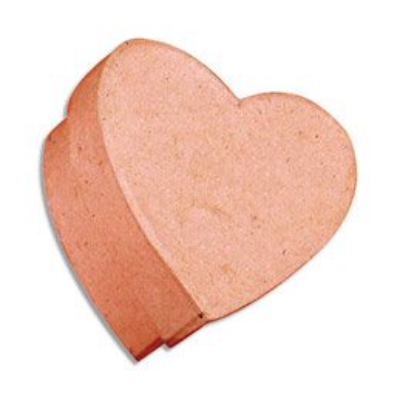 Boîte carton petit modèle coeur diamète 10,3 x 6,8 cm (photo)