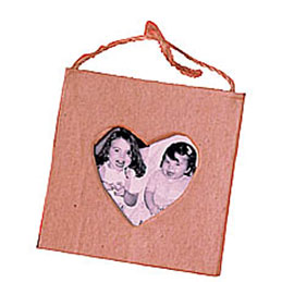 Mini cadre carton cœur (photo)