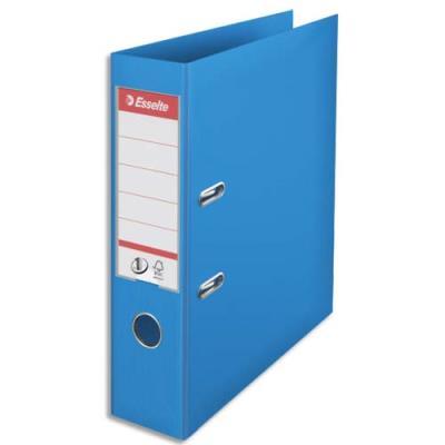 Classeur à levier n°1 Power Esselte - dos 7,5 cm - polypropylène - bleu clair