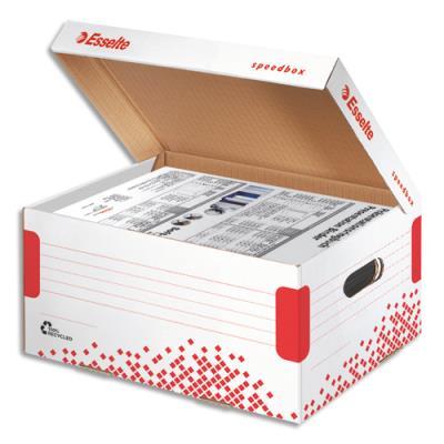 Conteneur Speedbox Esselte - taille Small - pour doc A4 et sous-dossiers - blanc
