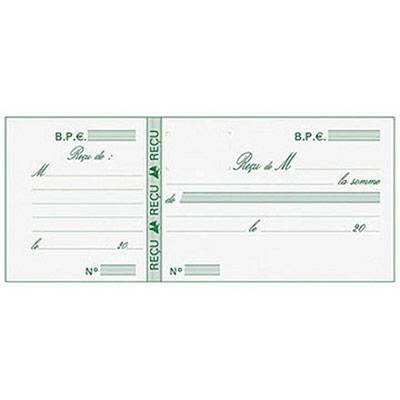 Carnet de reçus Manifold, détachage facile, 90 x 130 mm (bloc 25 feuilles) (photo)
