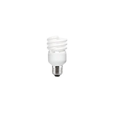 Ampoule Fluocompacte - 2 tubes spirales - culot E27 - 20W - 1220 lumens - 2700K (photo)