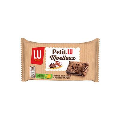 Gâteau Petit LU moelleux aux pépites de chocolat - 28 g - carton 48 x 28 grammes
