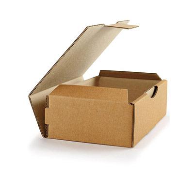 Boîte d'expédition en carton Raja - simple cannelure - L.18 x l.10 x H.5 cm - brun (photo)