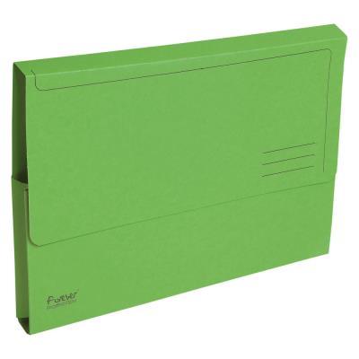 Porte-documents Exacompta Forever A4 - 200 feuilles 245 x 325 mm -  carte recyclé - vert - paquet 10 unités