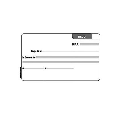 Carnet reçu sans TVA - 10.5 x 18 cm - 50 feuillets - autocopiants - dupli (photo)